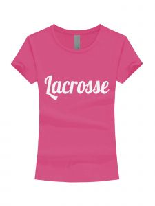 Girls Multi Color Glitter Lacrosse Short Sleeve T-Shirt 3-16