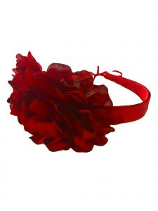 Girls Red Two Carnations Headband Fancy Diadem