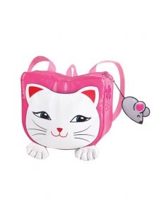 Kidorable Little Girls Fuchsia White Mouse Zipper Toy Lucky Cat Backpack