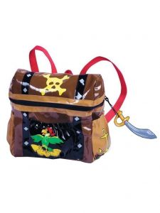 Kidorable Little Boys Brown Chest Pocket Sword Zipper Toy Pirate Backpack