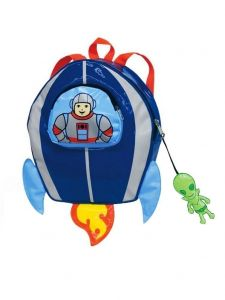 Kidorable Little Boys Blue Green Alien Zipper Toy Space Hero Backpack