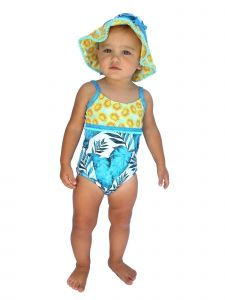 Azul Baby Girls Turquoise Endless Summer Trim Detail One Piece Swimsuit 12-24M