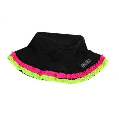 Azul Baby Girls Black Multi Color Trimmed Chassing Rainbows Sun Hat 1-2