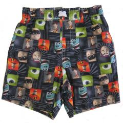 Disney Little Boys Multi Color Pixar Character Print Swimwear Shorts 2-4T