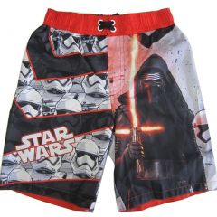 Star Wars Little Boys Red Black Character Graphic Print Swimwear Shorts 4-7