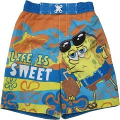 Nickelodeon Little Boys Orange Rust SpongeBob SquarePants Swimwear Shorts 2-4T