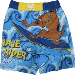 Cartoon Network Little Boys Sky Blue Scooby Doo Print Swim Shorts 2-4T