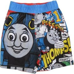 Thomas And Friends Baby Boys Black Cartoon Comics UPF 50+ Swim Shorts 12-24M