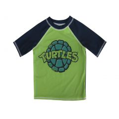 "Nickelodeon Little Boys Green ""Turtles"" Print Short Sleeve Rashguard 2-4T"