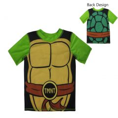 Nickelodeon Little Boys Green Black TMNT Costume Print Rashguard 2-5T
