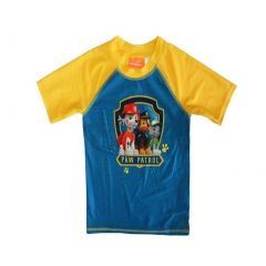 Nickelodeon Little Boys Yellow Blue Paw Patrol Print UPF 50+ Rash Guard 2-4T