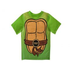 Nickelodeon Little Boys Green TMNT Logo Print UPF 50+ Rash Guard 2-4T