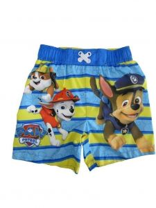 Nickelodeon Little Boys Yellow Paw Patrol Swim Shorts 2T-4T