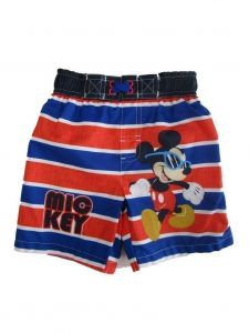 Disney Little Boys Royal Blue Mickey Mouse Swim Shorts 2T-4T
