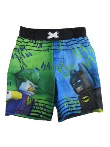 Lego DC Comics Big Boys Blue Green Batman Joker Print Swimwear Shorts 8-16