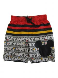 Disney Little Boys Red Mickey Mouse Swim Shorts 4-7