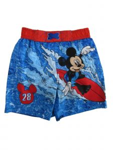 Disney Little Boys Blue Mickey Mouse Swim Shorts 2-4T