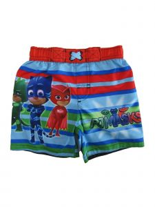 Disney Little Boys Multicolor Pj Mask Swim Shorts 2-4T