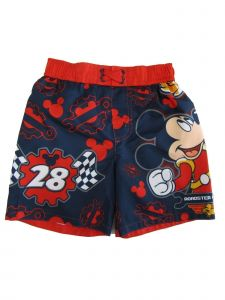 Disney Little Boys Blue Mickey Mouse Swimwear Shorts 2-4T