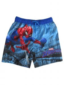 Marvel Little Boys Blue Red Spiderman Drawstring Tie Swim Shorts 2-4T