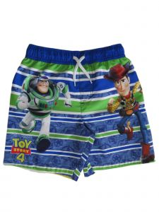 Disney Little Boys Blue Green Toy Story 4 Drawstring Tie Swim Shorts 4-7