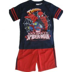 Marvels Navy Red Ultimate Spiderman Print Tee Basketball Shorts 2 Pc Set 4/5