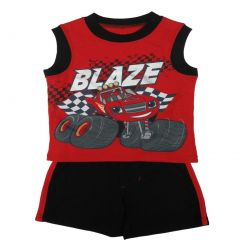 Nickelodeon Little Boys Red Blaze Car Sleeveless Top 2 Pc Shorts Set 2T-7