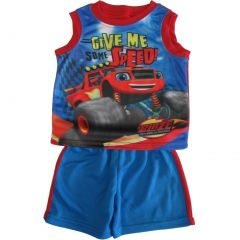 Nickelodeon Little Boys Royal Blue Blaze Sleeveless Tank Top Shorts Set 2T-7