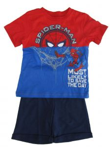Marvel Little Boys Royal Blue Red Spiderman T-Shirt 2 Pc Shorts Outfit 4-7