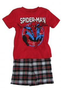 Marvel Little Boys Red Spider-Man Print T-Shirt 2 Pc Shorts Outfit 2-4T
