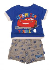 Disney Baby Boys Blue Pixar Cars McQueen Short Sleeve Top Shorts Outfit NB-24M