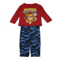 Nickelodeon Little Boys Red Blue Paw Patrol Camouflage 2 Pc Pant Set 2-4T