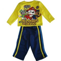 Nickelodeon Little Boys Yellow Navy Paw Patrol Always On Deck Pant Set 2-4T