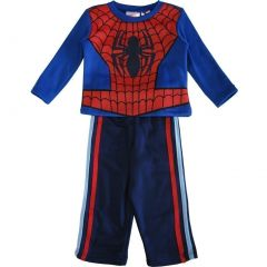 Marvel Little Boys Royal Blue Red Spiderman Long Sleeve 2 Pc Pant Set 2-4T