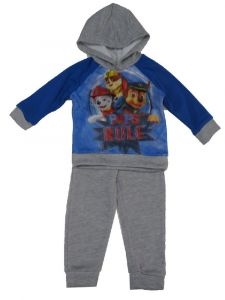 Nickelodeon Little Boys Royal Blue Paw Patrol Long Sleeve 2 Pc Outfit 2T-4T