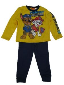 Nickelodeon Big Boys Yellow Royal Blue Paw Patrol Long Sleeve 2 Pc Outfit 4-7