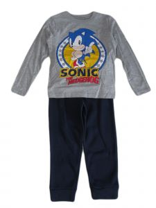 Sonic Little Boys Grey The Hedgehog Long Sleeve Top Jogger Pants Outfit 4-7