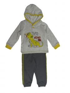 Disney Baby Boys Light Gray Lion Roar Long Sleeve Hooded Top Joggers Outfit 24M