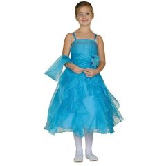 Cinderella Couture Little Girls Turquoise Crystal Organza Ruffle Dress 2-6
