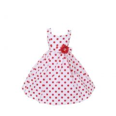 Cinderella Couture Little Girls Red Polka Dots Easter Flower Girl Dress 2-6