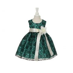 Cinderella Couture Baby Girls Blue Lace Multi Color Sashes Dress 6-24M