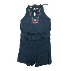 Carters's Little Girls Blue Demin Romper 2-4T