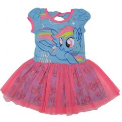 "Hasbro Little Girls Blue Pink My Little Pony ""Pony Dreams"" Tutu Dress 2-4T"