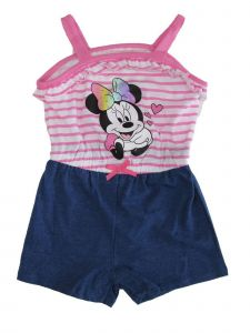 Disney Little Girls Pink Minnie Mouse Romper 2T-4T