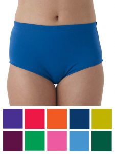 Pizzazz Women Multi Color Body Basics Cheer Briefs Adult S-2XL