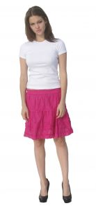 Deep Blue Womens Fuchsia Solid Color Knee-Length Trendy Cover-Up Skirt S-XL
