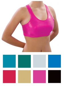 Pizzazz Girls Multi Color Metallic Sports Bra Youth 2-16