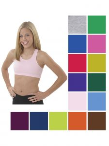 Pizzazz Girls Multi Color Comfort Sports Bra Youth 2-16