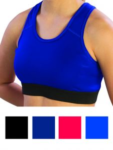 Pizzazz Girls Multi Color Pro Comfort Fit Sports Racer Back Bra Youth 8-16