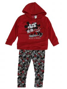 Disney Little Girls Red Minnie Mouse Long Sleeve Sweater Outfit Set 2T-4T